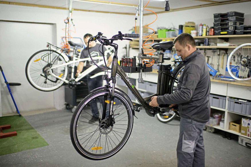 bikee Showroom und Werkstatt