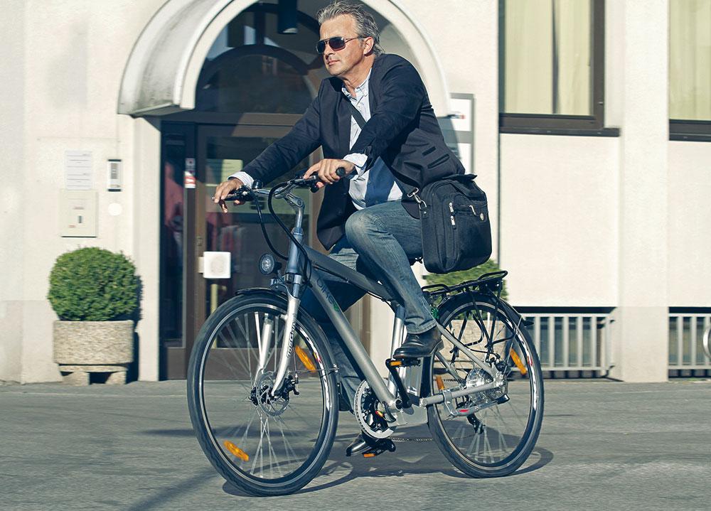 Mit dem bikee zur Arbeit